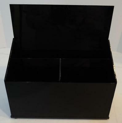 Black Plastic Counter Top Brochure Literature Display Rack Holder