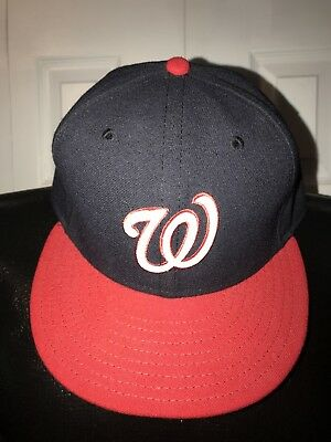 ... usa new era washington nationals 59fifty fitted hat dark navy red mlb  cap 7 e91c6 8fb37 7784ddda8c42