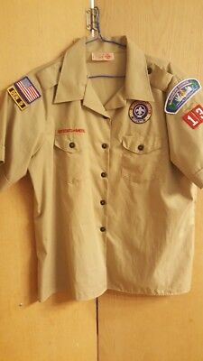 OFFICIAL BSA BOY SCOUTS OF AMERICA Uniform Shirt Adult size 38/40.