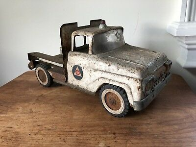 1960's Vintage Pressed Steel Tonka Toy Rescue Squad Truck Old Toy Restore Parts