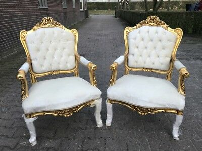 A Pair Of Antique French Louis Xvi Chairs (2)