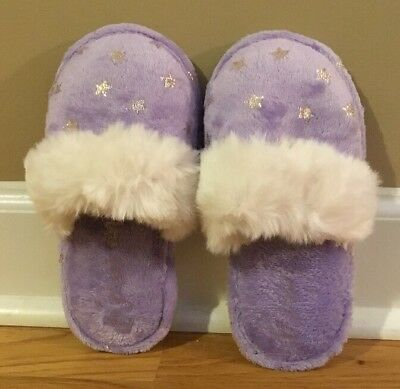 NEW Pottery Barn Teen Shimmer Star SMALL Slipper LAVENDER