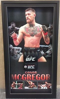 CONOR McGREGOR UFC CHAMPION HAND SIGNED FRAMED GLOVE WITH BACKDROP