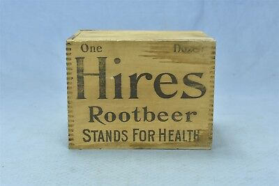 Antique ADVERTISING HIRES ROOT BEER FOR HEALTH SHIPPING BOX FINGER JOINT #05393