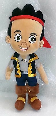 "Jake and the Neverland Pirates Plush Stuffed Toy 14"" Disney Store Boy Jake Doll"