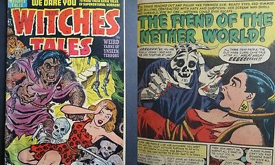 """Witches Tales #15 (1952) Harvey ~ GD ~ """"Yarns of Unseen Terrors""""!"""