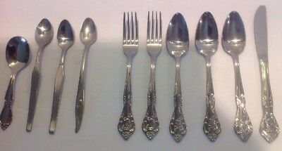 Mixed Lot of 10 Vintage Baby Spoons Forks Knife