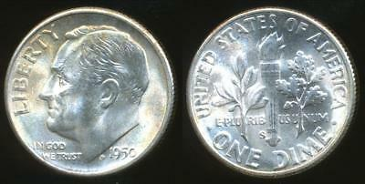 United States, 1950-S Dime, Roosevelt (Silver) - Uncirculated