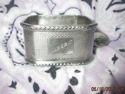 Antique Sterling Silver Birmingham Napkin Ring Neale & Sons 1939, 80 Years Old!