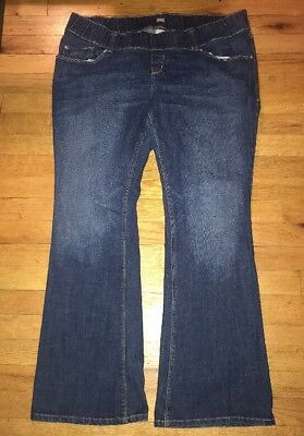 Old Navy Maternity Jeans Size Large Wolven Waistband Bootcut Stretch Low Waist