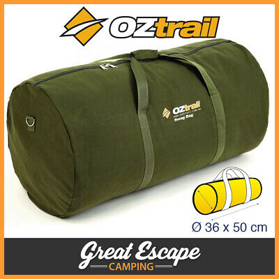 OZtrail Canvas Biker Single Swag Bag. Tough 14 oz canvas. Durable #12 zips.
