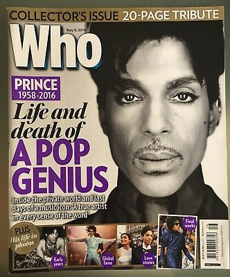 Prince The Artist Death Tribute WHO Magazine May 9 2016 Edition