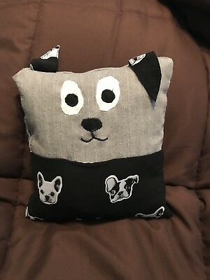 Puppy Dog - TOOTH FAIRY PILLOW - Gift Idea. Boy Or Girl. Boston Terrier
