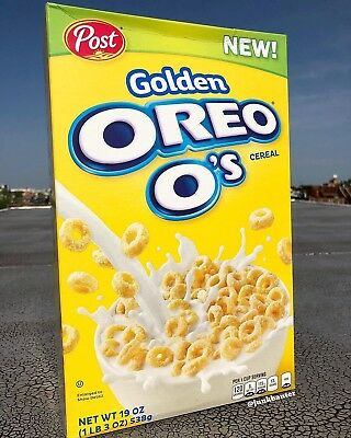 Golden Oreo O's Cereal Post Brand New 19oz NEW - PRE ORDER SHIP IN JUNE