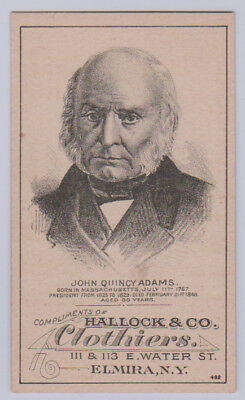 1880 H602 U.S. Presidents Trade Card (Hallock & Co.) - John Quincy Adams