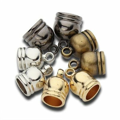 50pcs/lot CCB End Caps Clasps Fit 6/7/8/9/12mm Leather Cord DIY Bracelet Finding