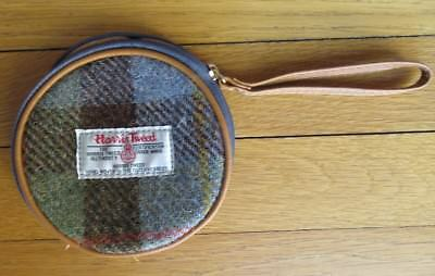Harris Tweed Hand Woven Round Coin Wallet Purse Unisex New Never Used