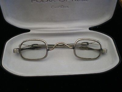 Antique 1860's Spectacles with telescoping temples. Marked 22.