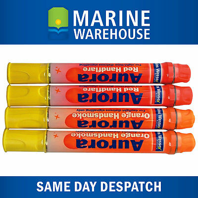 Inshore Flare Kit - 2 Red & 2 Orange Hand Held Flares - Distress Signal 308300