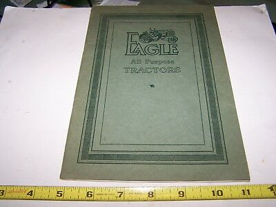 Original EAGLE All Purpose Farm Tractor Sales Catalog Hit Miss Gas Engine NICE!