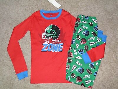 THE CHILDREN'S PLACE Boys 2pc Football Pajamas Size 16~ NEW!