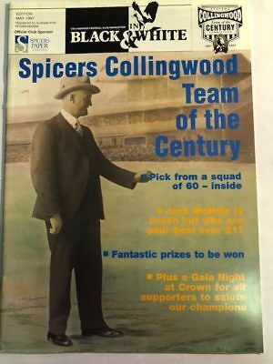 Collingwood Football Club in Black & White Magazine Footy Poster AFL May 1997
