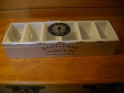 NEW Gentleman Jack Daniels Whiskey 6 Compartment Condiment Fruit Tray