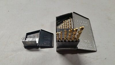 Vintage Lot of 2 Huot Drill Indexes with bits - All USA - Miniature Drill Index