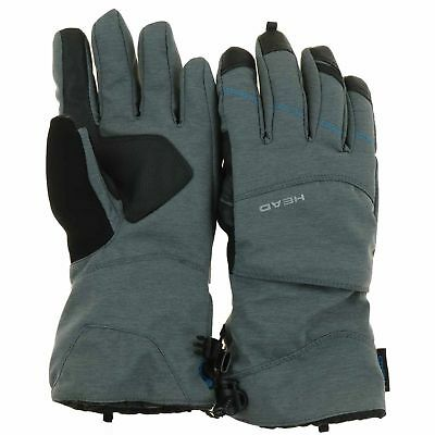HEAD Womens Dupont Sorona Insulated Ski Glove With Pocket GREY BLUE LARGE