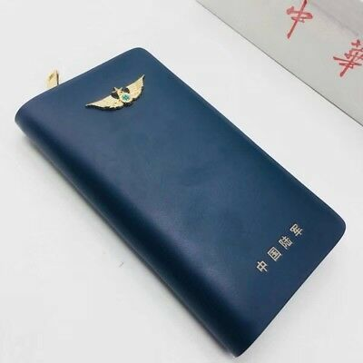 18's series China PLA Army Officer Genuine Leather Wallet,Blue