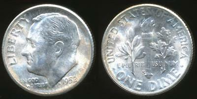 United States, 1952-S Dime, Roosevelt (Silver) - Uncirculated