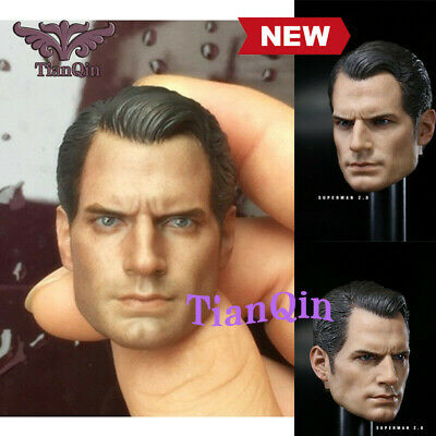 """1:6 Scale Superman Henry Cavill Head Sculpt For 12"""" Male Action Figure Body Toys"""