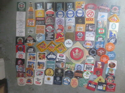 105 different  AUSTRALIAN Breweries Issued  BEER COASTERS
