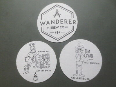complete set of 3 WANDERER BREWERY,New.South.Wales. Issued  BEER COASTERS