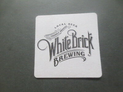 1 only WHITE BRICK  BREWERY,Queensland. Issued  BEER COASTERS