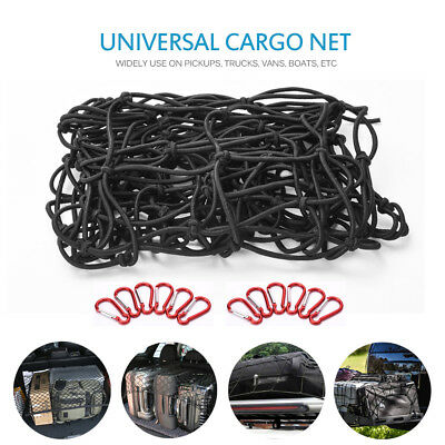 Heavy Duty Bungee Cargo Net Latex Truck Bed Mesh for Loads Tighter Cargo Hitch