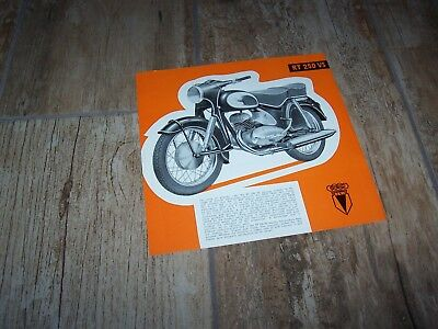 Prospectus /  Brochure DKW RT250 VS 195?  //