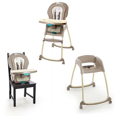 3 In 1 Deluxe Baby High Chair Toddler Booster Seat Recliner Dining Feeding Tray