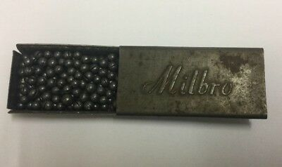 RARE - Antique / Vintage Original Tin Cased Milbro Fishing Lead Weights - Early
