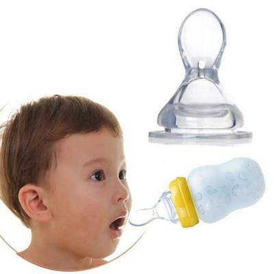Soft Silicone Baby Rice Cereal Feeding Bottle Weaning Squeezing Feeding Spoon