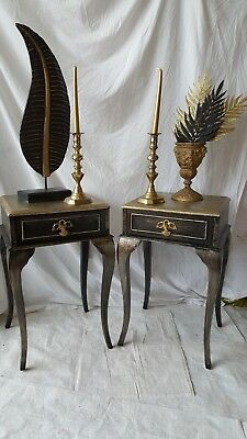 Vintage Louis XV style Bedside Tables on French Cabriole legs