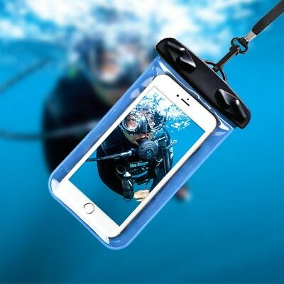 Universal Water Sports Waterproof Cell Phone Case Dry Pouch Bag with Lanyard UK