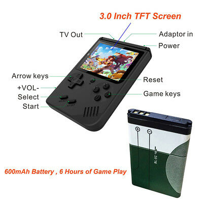 Portable Handheld Video Game Console 8 Bit Retro 168 Games 3.0 Inch Kids Player