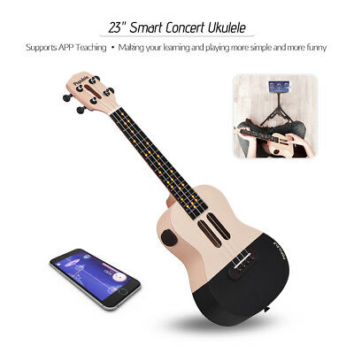 "Populele 23"" Smart Concert Ukulele Ukelele Kit for Beginners APP Teaching O6N1"
