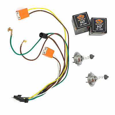 LEFT + RIGHT Headlight Wire Harness Connector Kit For DC111