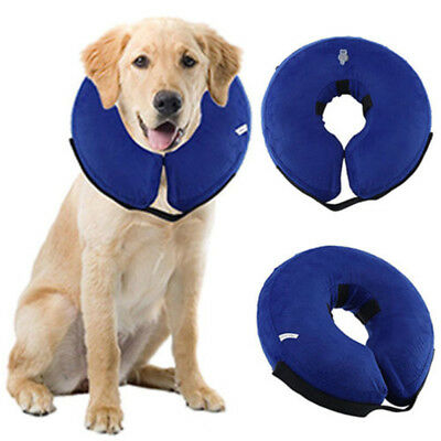 Inflatable Lovely Dog Cat Pet Vet Collar Post Surgery Lampshade Cone Neck Injury
