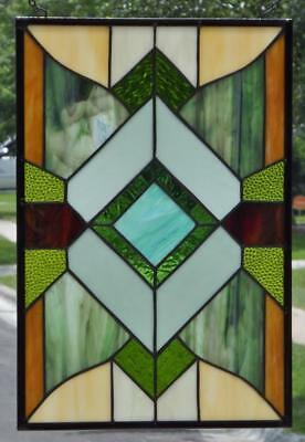 """WANDERER""Stained Glass Window Panel • 18 1/2"" 12 1/2""(47x32 cm)"