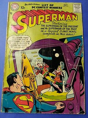 1957 MAY #113 SUPERMAN COMICS featuring Superman PRESENT & PAST OLD VINTAGE