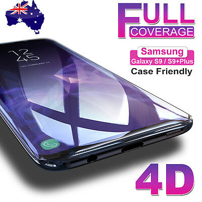 Samsung Galaxy S9 S8 Plus Note 8 4D Full Cover Tempered Glass Screen Protector A