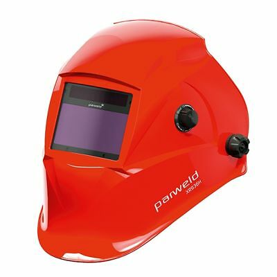 Parweld XR936H red shell large view 5-13 shade auto welding & grinding helmet